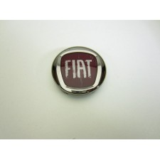 Wheel centre Fiat red logo 68mm
